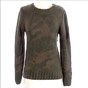 Tank Brand Green Camo Print Sweater